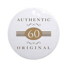 60th Birthday Authentic Ornament (Round)