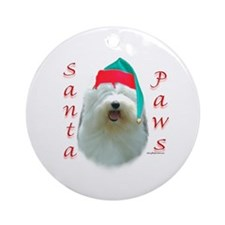 Santa Paws OES Ornament (Round)