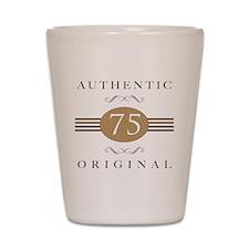 75th Birthday Authentic Shot Glass