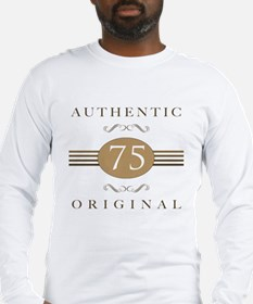 75th Birthday Authentic Long Sleeve T-Shirt