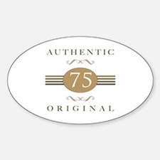 75th Birthday Authentic Decal