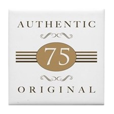 75th Birthday Authentic Tile Coaster