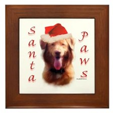 Santa Paws Nova Scotia Framed Tile