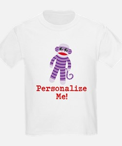 Purple Sock Monkey T-Shirt