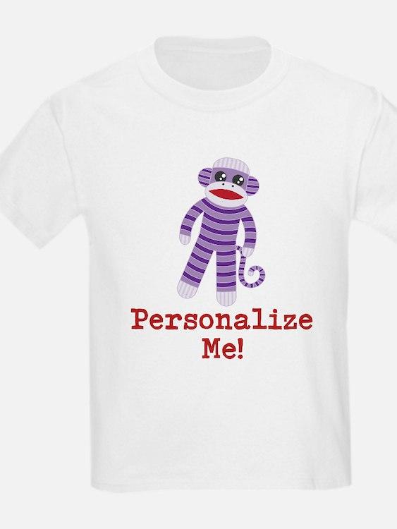 Purple Sock Monkey T-Shirt