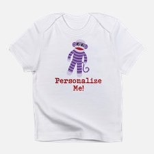 Purple Sock Monkey Infant T-Shirt