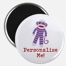 "Purple Sock Monkey 2.25"" Magnet (10 pack)"