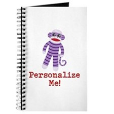 Purple Sock Monkey Journal