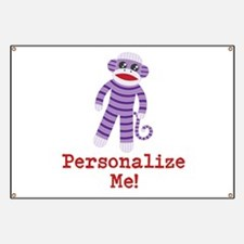 Purple Sock Monkey Banner