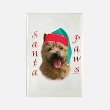 Santa Paws Norwich Terrier Rectangle Magnet