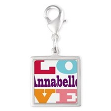 I Love Annabelle Silver Square Charm