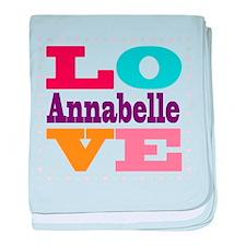 I Love Annabelle baby blanket