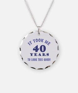 Hilarious 40th Birthday Gag Gifts Necklace
