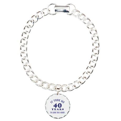 Hilarious 40th Birthday Gag Gifts Charm Bracelet,