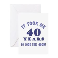 Hilarious 40th Birthday Gag Gifts Greeting Card