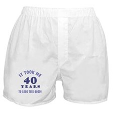 Hilarious 40th Birthday Gag Gifts Boxer Shorts