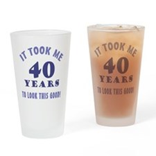 Hilarious 40th Birthday Gag Gifts Drinking Glass