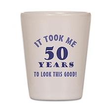 Hilarious 50th Birthday Gag Gifts Shot Glass