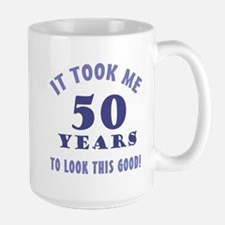 Hilarious 50th Birthday Gag Gifts Large Mug
