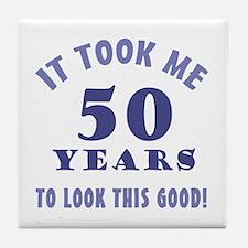 Hilarious 50th Birthday Gag Gifts Tile Coaster
