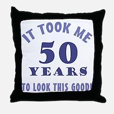 Hilarious 50th Birthday Gag Gifts Throw Pillow