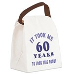 Hilarious 60th Birthday Gag Gifts Canvas Lunch Bag