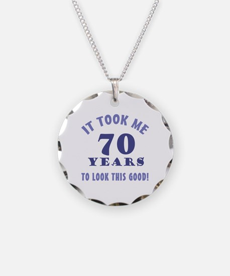 Hilarious 70th Birthday Gag Gifts Necklace
