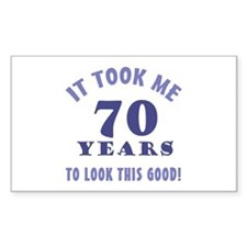 Hilarious 70th Birthday Gag Gifts Decal