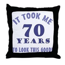 Hilarious 70th Birthday Gag Gifts Throw Pillow