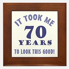 Hilarious 70th Birthday Gag Gifts Framed Tile