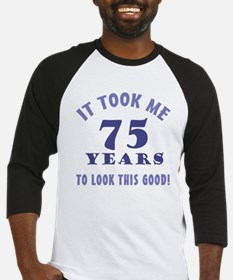 Hilarious 75th Birthday Gag Gifts Baseball Jersey