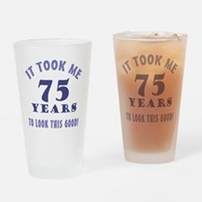 Hilarious 75th Birthday Gag Gifts Drinking Glass