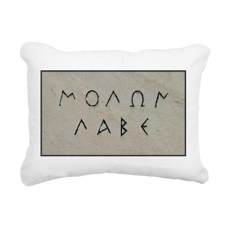 """""""Molon Labe"""" Rectangular Canvas Pillow"""