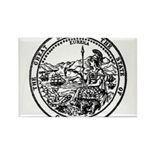 great seal Ca. Rectangle Magnet