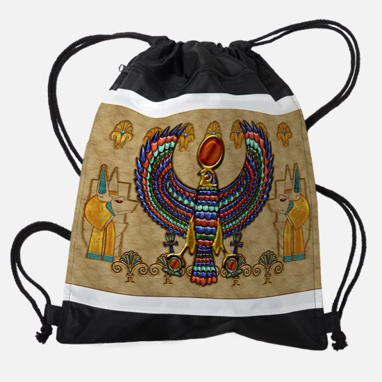 Harvest Moons Egypt Hawk Drawstring Bag