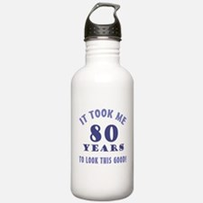 Hilarious 80th Birthday Gag Gifts Water Bottle