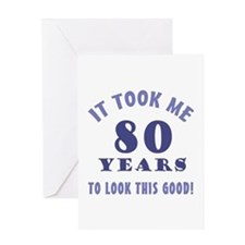 Hilarious 80th Birthday Gag Gifts Greeting Card
