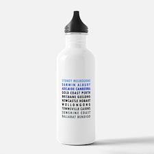 Australian Cities Blue Water Bottle