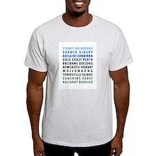 Australian Cities Blue T-Shirt