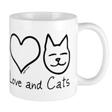 PEACELOVECATS Mugs