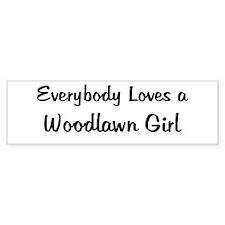 Woodlawn Girl Bumper Bumper Sticker