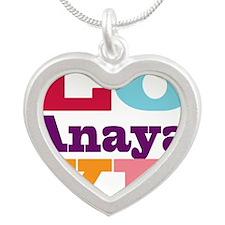 I Love Anaya Silver Heart Necklace