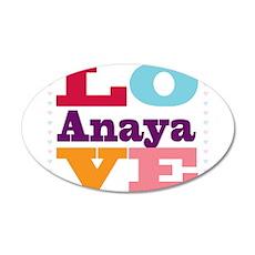 I Love Anaya 20x12 Oval Wall Decal