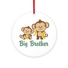 Big Brother Monkeys Ornament (Round)