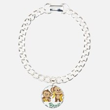 Big Brother Monkeys Charm Bracelet, One Charm