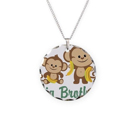 Big Brother Monkeys Necklace Circle Charm