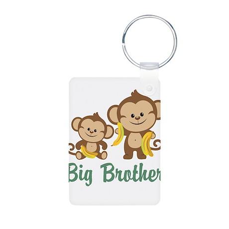 Big Brother Monkeys Aluminum Photo Keychain