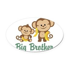 Big Brother Monkeys Oval Car Magnet