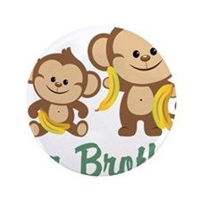 """Big Brother Monkeys 3.5"""" Button"""