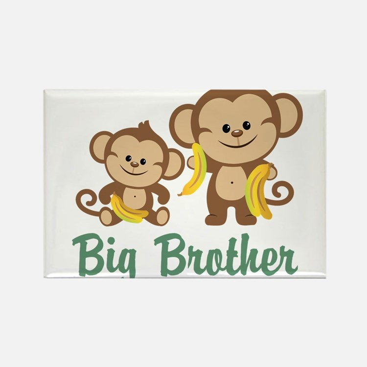 Big Brother Monkeys Rectangle Magnet